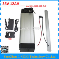 Wholesale lithium batteries 36v resale online - 36 V electric bike battery V AH W silver fish Battery v ah Use for samsung cell with A BMS V A Charger