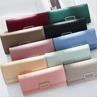 Wholesale Cell Phones Large Screens - new candy color woman wallet contracted many screens lend hand bag with high quality large capacity buckles leather wall