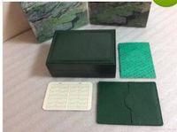 caja de reloj mujer libre al por mayor-Mens de lujo para ROLEX Caja de Reloj Caja de Reloj de pulsera de Hombre Reloj de Pulsera de Hombres de Interior Exterior Original envío gratis