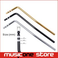 Wholesale Guitar Whammy Bar - Direct Insertion Styles Tremolo Arm Whammy Bar For Electric Guitar Insert Part Diameter 6mm Black Gold chrome color