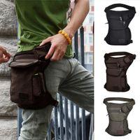 Wholesale Black Drop Leg Bag - Canvas Drop Leg Bag Outdoor Climbing Waist Pack Belt Hip Bum Tactical Bags Travel Multi-purpose Climb Bag Unisex Running Bags
