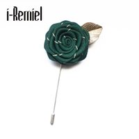 Wholesale feather corsages - 2017 Ribbon Feather Direct Selling Limited Brooches Pin High-grade Flowers Rose Brooch Corsage Male And Female Handmade Shirt