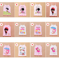 Wholesale Baby Girls Red Tank Top - Baby Kids Clothing Tops Tees girls Tank Top tops 2017 summer korean fashion Cute cartoon letters boutique Cotton top t-shirts #8019