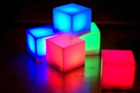 Wholesale Lighted Novelty Items - Wholesale- Novelty Lighting lampe puzzle Multi Color led cube light led novelty items portable lighting novelty gift