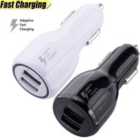 Wholesale 12v car port online - Fast Adaptive car Charge Dual USB Port v v v A Fast Quick Car Charging for Samsung Galaxy S6 S7 S8 Plug for iphone mp3 gps