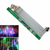 Pluie D'éclairage De Noël Pas Cher-2017 New 30cm Meteor Shower Rain Tubes Led Light Lamp 100-240V EU US Plug Chaîne de Noël Light Wedding Garden Decoration Xmas