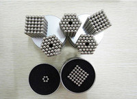 Wholesale Magnetic Ball Puzzles - 216Pcs 3mm Shapable Magnetic Balls Neo Cube Magic Cube Magnets Puzzle Fidget Toys Anti Stress Cube Kids' Gift with Metal Box 2107255