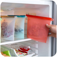 Wholesale Frozen Foods Bags - Reusable Silicone Food Fresh Keep Storage Bag Fresh Keeping Container for freezing & heating Portable Re-use Vacuum Food Sealer Picnic Bag
