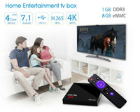 2017 Hot Android 7.1 Quad Core Quad RK3328 A5X PLUS MINI 1GB 8GB KD carregado USB 3.0 Media Player TV Boxes VS V88 MXQ PRO