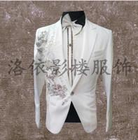 kore resmi elbise stili toptan satış-Erkekler suits tasarımlar homme terno şarkıcılar için sahne kostümleri erkekler pullu blazer dans elbise ceket yıldız tarzı resmi elbise korean