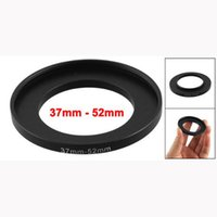Wholesale 37mm 52mm - Wholesale- 2x Camera Lens Filter Step Up Ring 37mm to 52mm Adapter Black