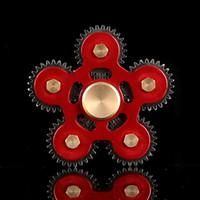 Wholesale Toys Metal Gears - Metal Gear Fidget Spinners Five-Gear Spinner Aluminum Alloy Hand Spinner Metal Gear Spinners EDC Decompression Fidget Toy
