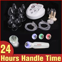 Wholesale Cellulite Vacuum Therapy Machine - Muti-functional Breast Massage Cellulite Removal Vacuum Therapy Beauty Machine+ Gift Ultrasonic LED Photon Keep Moisture Device
