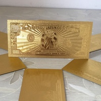 Wholesale Antique Notes - 24K Gold Foil Banknote Notes One Million Dollars Bill Props Money Colorful Fake Paper Money Collections Home Decor Arts Christmas Gifts