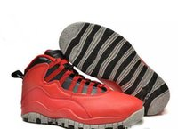 Wholesale Liberty Sports - 2017 Cheap Retro 10 Lady Liberty Red Cement 45 CHI Men new basketball sneakers 10 X Sports Shoes For Sale With Size: US7-13