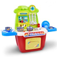 Wholesale Kitchen Utensils Gifts - Kitchen Toys Set Sound Light Toys Play house toys Girl cooking utensils tableware Girl gift birthday present