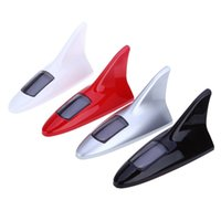 Wholesale Solar Fin - Shark Fin Shape 8 LEDs Solar Anti Collision Waterproof Warning Taillight for Car Adopted Solar Energy Environmentally Friendly