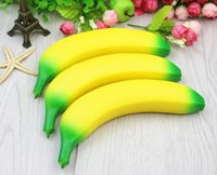 Wholesale Strawberry House Toy - 12pcs 8-15cm PU Anti Stress simulation Fruit banana strawberry peach Squishy Toy 30g kids play house Squeeze model in cake shop