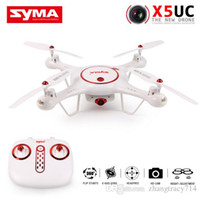 Wholesale Helicopter Landing - 2018 SYMA X5UW FPV RC Quadcopter WIFI Camera HD Mobile Control Flight,Height Hold,One Key Land 2.4G 6-Axis Helicopter VS X5UC