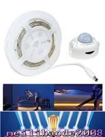 Wholesale Sensor Timer - Motion Activated Bed Light Flexible LED Strip Sensor Night Light Illumination with Automatic Shut Off Timer Sensor MYY
