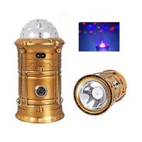 ingrosso torcia elettrica della sfera-Luminoso pieghevole 3-in-1 LED Lanterna luci + torcia torcia + RGB effetto magico palla palcoscenico lampada lampadina ricaricabile batteria campeggio