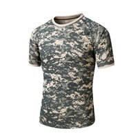 Wholesale Special Tees - Men's Tactical Gear Military Airsoft Special Ops Combat Tee Camouflage Light Weight Round Neck Quick Dry Short Sleeve Tee
