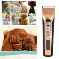 Wholesale Electric Hair Clippers For Cats - 2016 Newest Hot Professional Rechargeable Electric Pet Hair Trimmer Dog Cat Rabbit Hair Clipper for Pets Grooming Spare Head