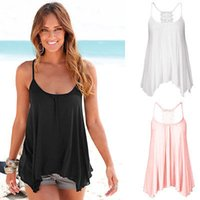 Wholesale Lace Back Girls Tank Tops - Wholesale-Fashion Women Ladies Girls Lace Back Tank Tops Sleeveless Tees Casual Camis