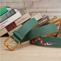 Wholesale Men Belt Leather 36 - 2017 Hot luxury belts designer belts for men snake pattern belt male chastity belts top fashion mens leather belt wholesale free shipping