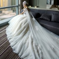 Wholesale Beaded Backless Ball Bridal Gown - Sexy Lace A Line Wedding Dress V-Neck Line Sleeveless Organza Beaded Chapel Ball Gown Illusion Backless Court Train Bridal Gowns