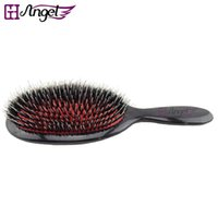 paddle brush for natural hair - GH Angel pc Natural Boar Bristle Brush Oval Cushion Nylon Natural Hair Extension Brush For Barber Hairdressing Tools