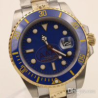 Wholesale Whatches Gold - Luxury Brand Limited New Blue Dial Silver Stainless Belt Whatches White Stainless Pointer Watch Mens Fashion Wrist Watches