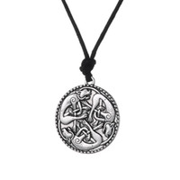 Wholesale Harmony Plates - Adjustable Herons&Knotted Cats Irish Pendant Necklace Symbol of Harmony and Peace Book of Kells cat jewelry for christian gifts