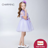 Wholesale Embroidery Designs For Kids - Clothes for girls Kids design clothes Purple high quality Pageant dresses for girls Girlsdress China suppliers