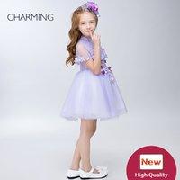 ingrosso abbigliamento delle ragazze fornitore-Vestiti per le ragazze Abiti di design per bambini Abiti da spettacolo viola di alta qualità per ragazze Fornitori di abbigliamento per bambine cinesi