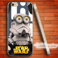 Wholesale Iphone Case Star Minion - Capa Minion Star Wars Soft Clear TPU Case for iPhone 7 6 6S Plus 5S SE 5 5C 4S 4 Case Silicone Cover.