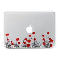 Wholesale Macbook Pro Vinyl - Beautiful Flower Vinyl Decal Laptop Stickers for Apple Macbook Air Pro Retina 11 13 15 Inch Laptop Skins Wholesale