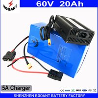 Wholesale e scooter charger - BOOANT 60V 20AH E-Bike Scooter Li-ion Battery pack for Bafang BBS 1400W Motor Free Customs to US EU with 30A BMS 5A Charger