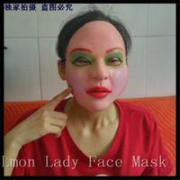 látex femenino cara al por mayor-Más alto grado 100% máscara femenina de látex látex silicona máscaras realistas fiesta de baile de silicona de silicona máscaras de mascarada cosplay Lady máscara facial completa