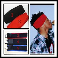 Wholesale Sweatband Logo - Fashion BOX LOGO super headband unisex men women sweatband 15fw 14fw black red