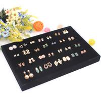 présentoir de boucles d'oreilles en velours achat en gros de-Cadeau de vente chaude pour filles ou dames bijoux présentoir pour boucles d'oreilles avec haute qualité noir velours bijoux rack organisateur de cas
