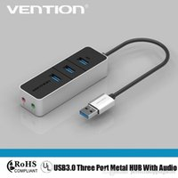 Condividi HUB USB 3.0 a 3 porte ad alta velocità con audio per computer MacBook PC Laptop Tablet Adapter, con adattatore audio