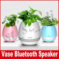 Wholesale Light Singing - Music smart flowerpot sensor Speaker Vase With Light Touch Plant Flower Pots Smart Bluetooth Decor Sing Songs For Anxiety Stress Relief