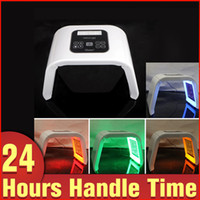 Wholesale Blue Light Phototherapy - 2017 LED Light PDT LED Therapy Red Blue Green Yellow 4 Color Led Face Mask Light Phototherapy Lamp Machine For Skin Rejuvenation