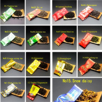 Wholesale 15 different flavors of Chinese tea including Dahongpao oolong tea green tea pu er Tieguanyin black white tea