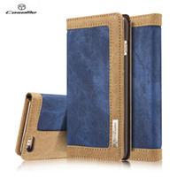 Wholesale Denim Phone Cases - CaseMe Flip denim Wallet Phone Case For iphone 6 6s 6 plus 6s plus with card slot stand function