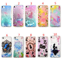 Wholesale Embossment Case Iphone - For iphone X 8 7 6 6s Plus 3D Embossment Watercolor Alice Marmaid Tinker Bell Flower Shock Proof Soft TPU Silicone Cover Case