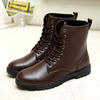 Wholesale Silk Velvet Cloth - New fashion leisure high for men's boots, high quality and velvet male outdoor Martin boots, antiskid shoes wear comfortable and warm in win