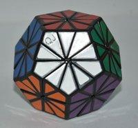Wholesale Qj Megaminx - Brand New QJ PVC Stickers Megaminx 76mm Magic Cube Puzzles Cube Educational Toys Special Toys