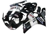 zx6r west verkleidungen großhandel-Motorrad Rahmen Spritzguss Komplette Karosserie Verkleidung Kit für ZX-6R 2003 2004 ZX6R 03 04 Black West Edition
